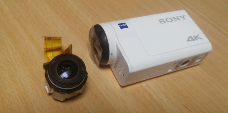Ремонт экшн камеры Sony 4K. Замена объектива