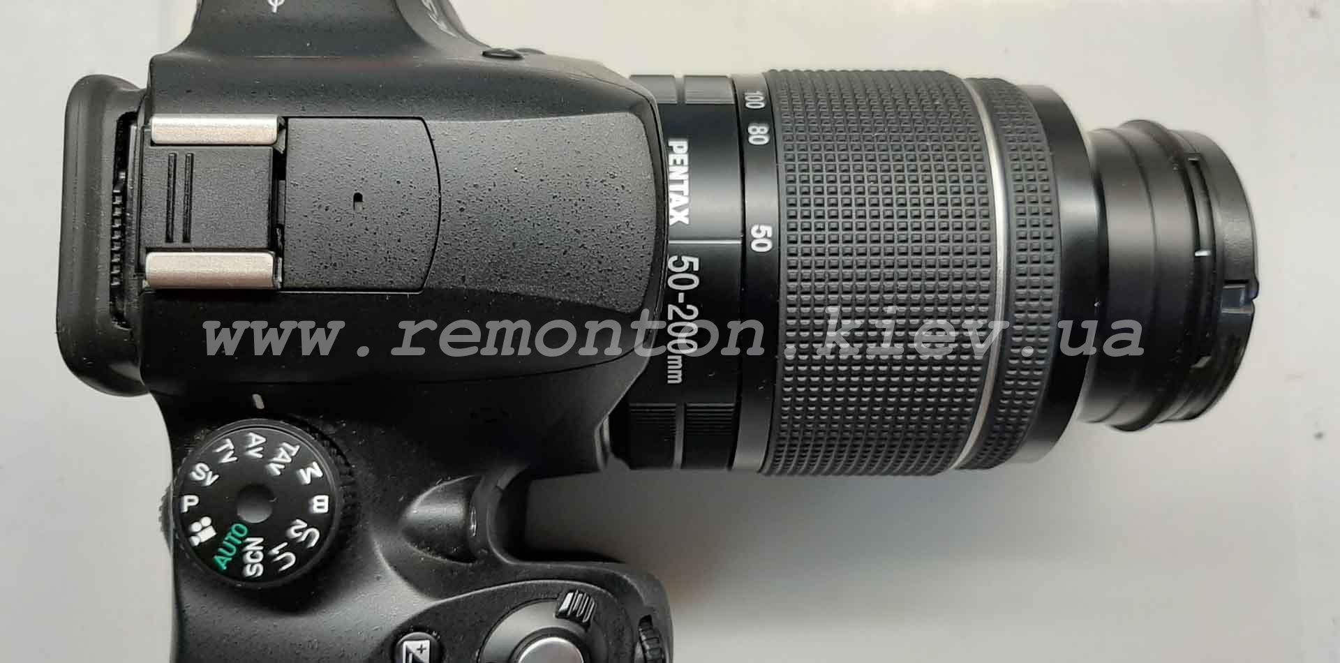 Ремонт Pentax K50 - хлопает зеркало