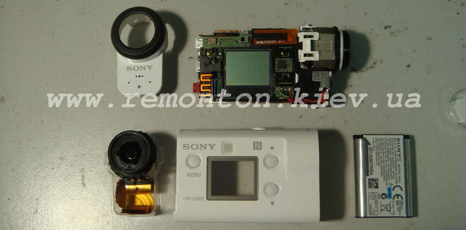 Замена объектива экшн камеры Sony FDR-X3000