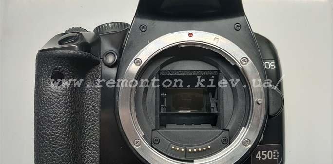 Ремонт Canon 450D – замена ламелей затвора