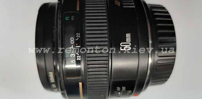 Ремонт объектива Canon 50mm – замена шлейфа диафрагмы