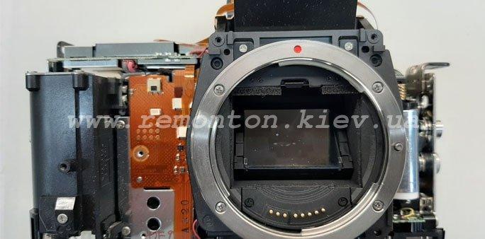 Ремонт Canon 5D M2 - замена ламели затвора