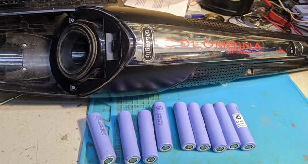 Ремонт аккумуляторного пылесоса Delonghi Colombina