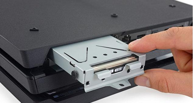 Замена жесткого диска на Sony PS 4