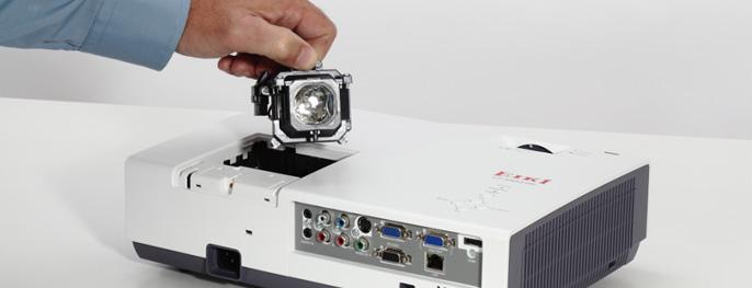 Замена лампы в проекторе